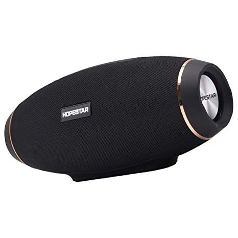 HOPESTAR Black Wireless Speaker With Blutooth and memory card supported