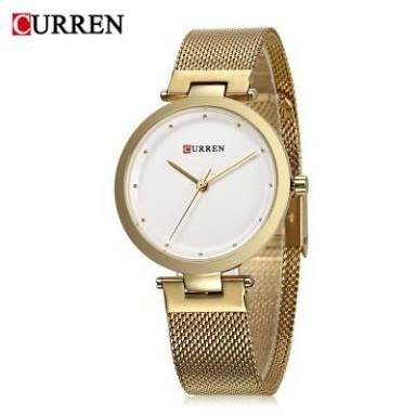 CURREN Ladies Watch With Gold Straps