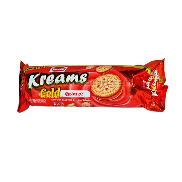 Parle Kreams Gold Orange Cream Biscuits 75gm