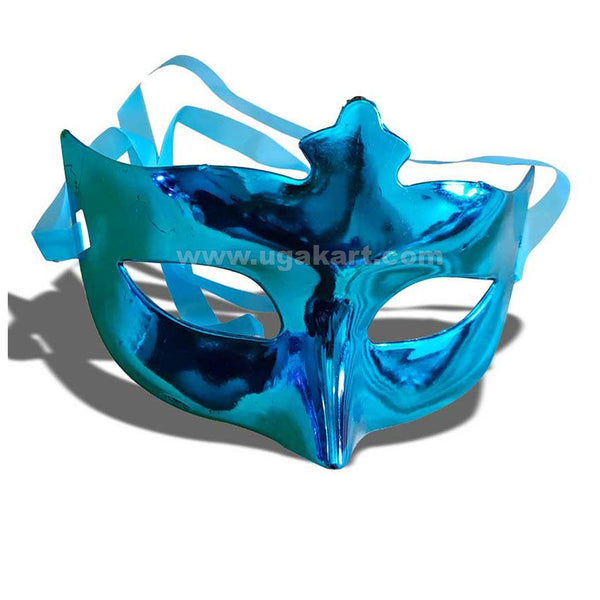 Blue Party Face Mask N Carnival Eye Mask