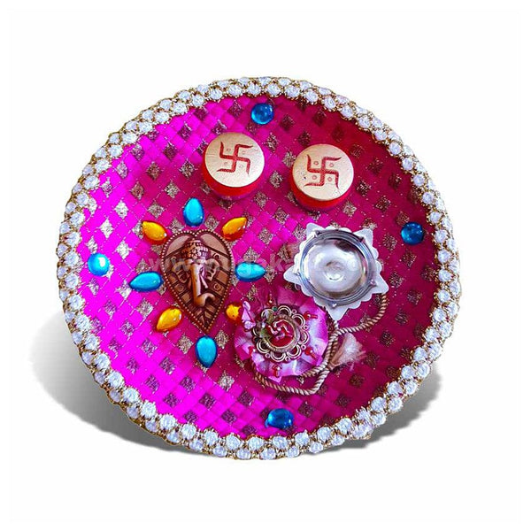 Rakhi Thali - Pink Colour