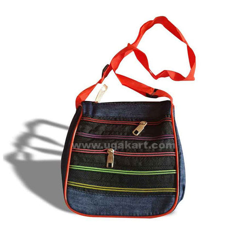 Mini Handgirls Bag-Navy Blue Jeans Colour