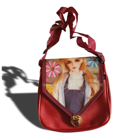 Mini Cross Bag With Blinking Eyes-Red Colour