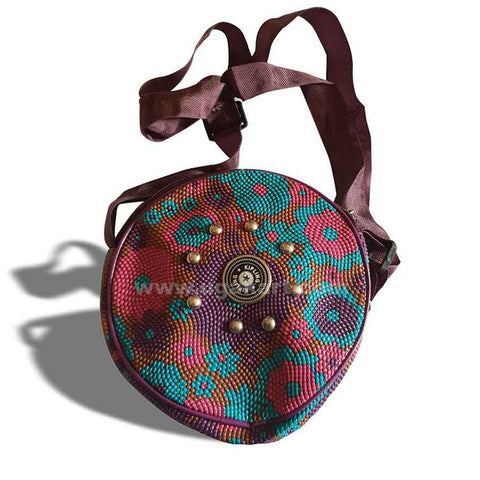 Mini Cross Round Bag-Purple Colour