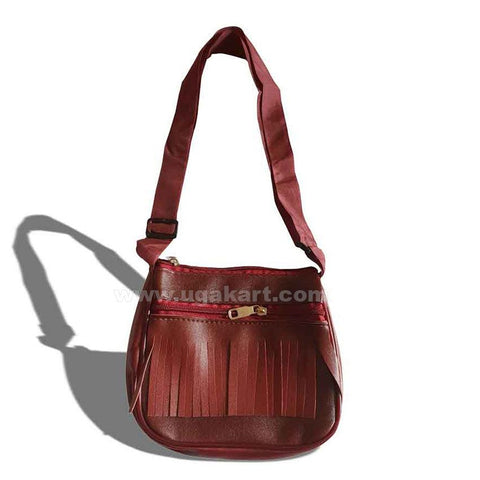 Mini Cross Bag-Maroon Colour