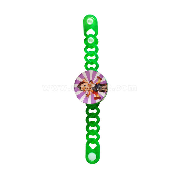 Plastic Green With Light Rakhi