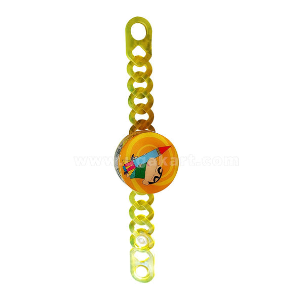 Plastic Yellow Rakhi