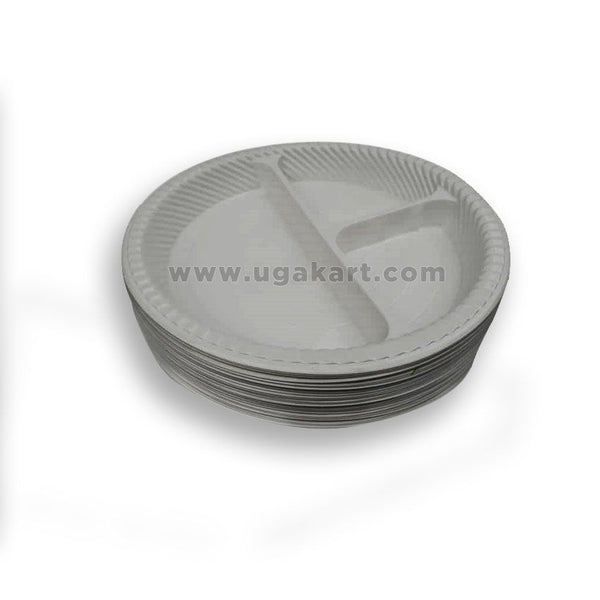 Disposable Partitioned Plates (Set Of 25 Pcs)