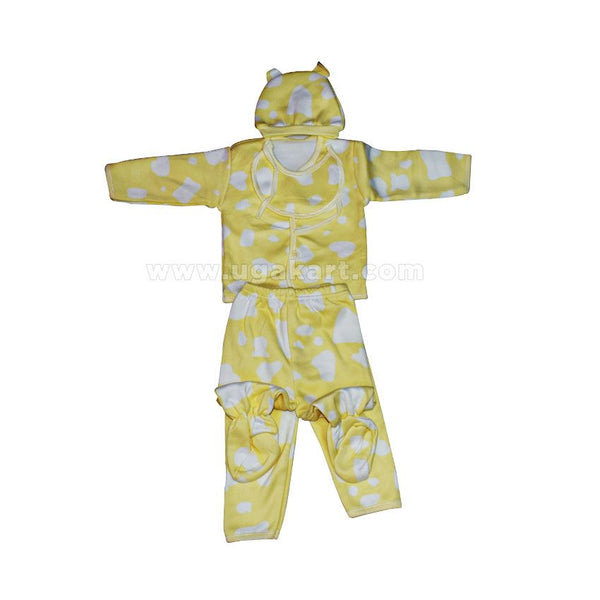 Yellow Baby's Set (5 Pcs) (0-6 months)
