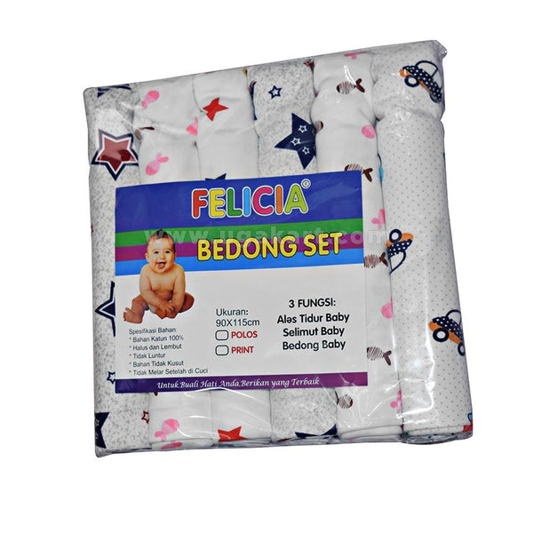 FELICIA Bedong Set (6 Pack)