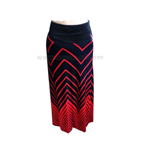 Red And Black Long Skirt