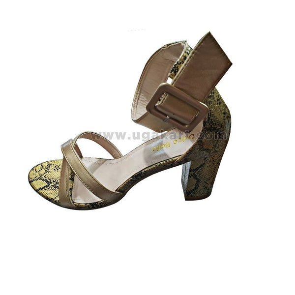 Dolce Bella Golden Shoes With Snake Print
