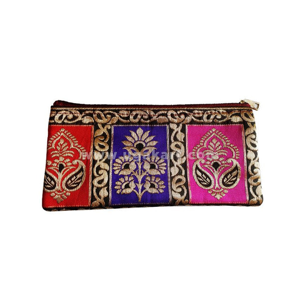 Red,Purple,Pink Colour Print Clutch Bag