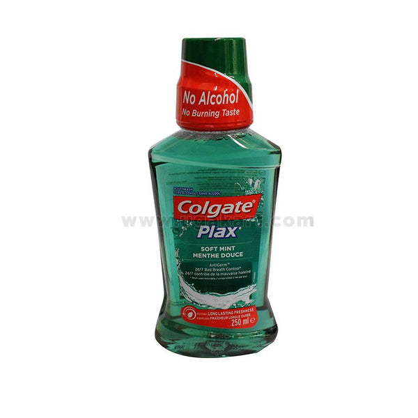 Colgate Mouthwash Plax Soft Mint Menthe Douce 250ml