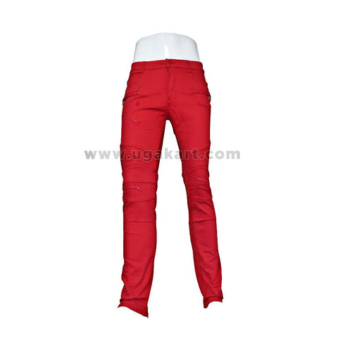 Red Tight trouser for mens