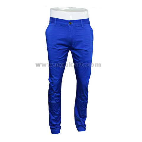 Blue Fitting trouser for mens