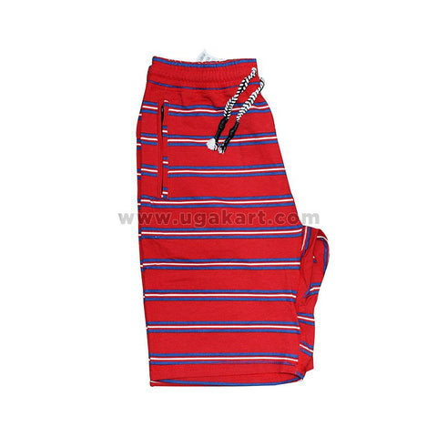 Red And Blue Stripped Short for mens