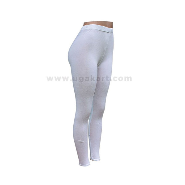 White Ladies Leggings - Size XL