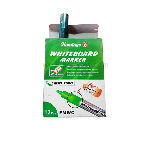 Flamingo WhiteBoard Marker-Chisel Point (Chisel Point) Green