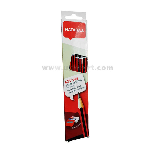 NATARAJ 621 Ruby Long Lasting HB Pencils