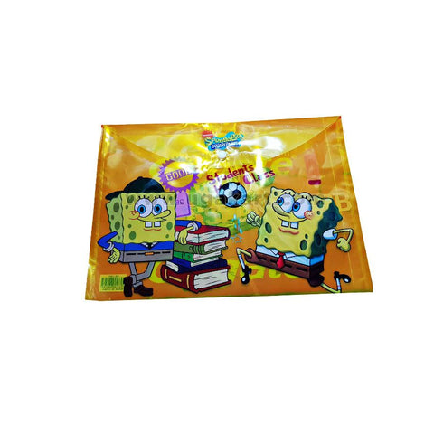 Sponge Bob Square Pants Plastic File Folder