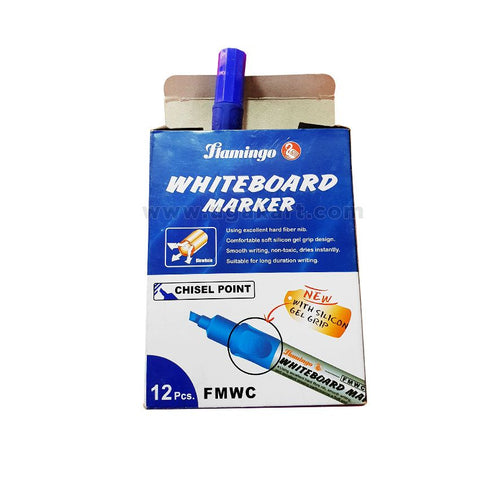 Flamingo WhiteBoard Marker-Chisel Point (Chisel Point) Blue
