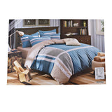 Blue And Brown Duvet Cover Set