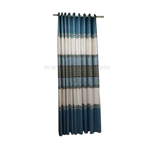 Blue And White Door Curtain