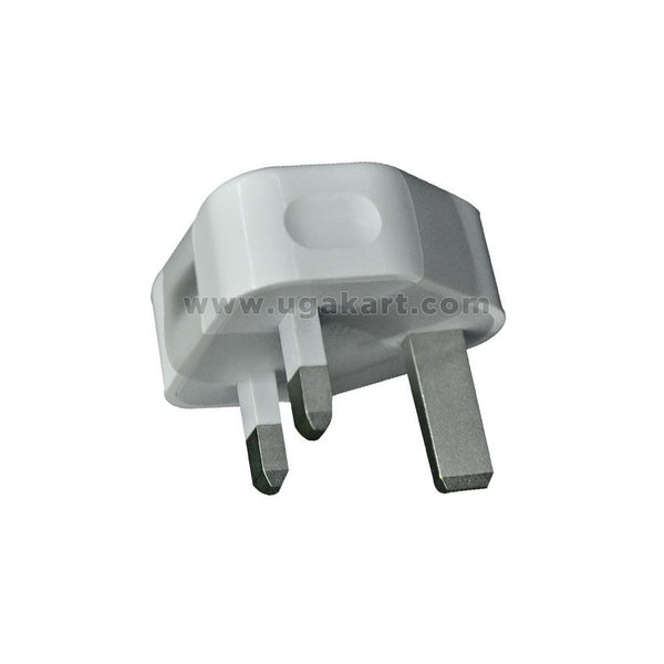 White 3 Plug Power Adaptor