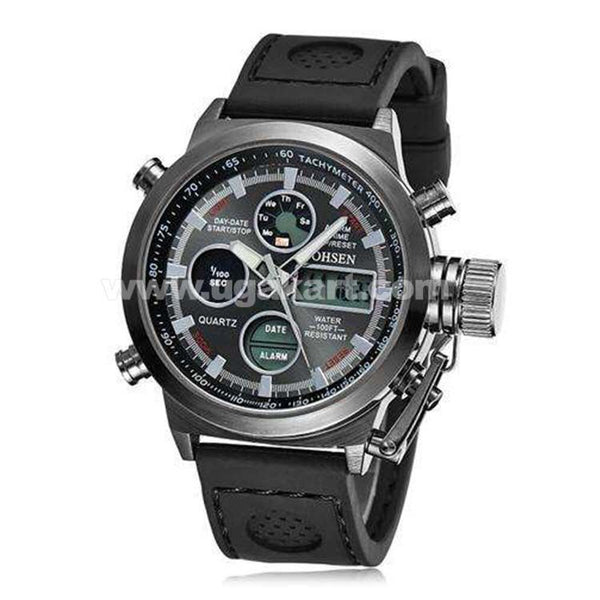 OHSEN QUARTZ Black Men's Watch