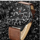 NAVIFORCE Black And Brown Men's Watch
