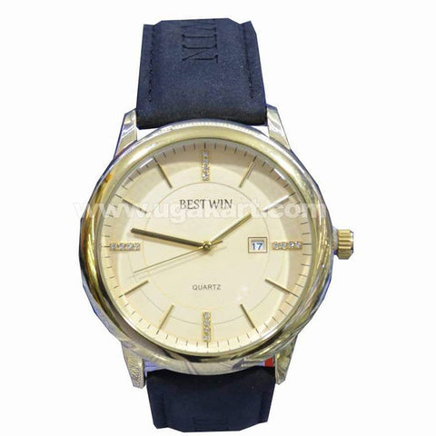 BESTWIN Dark Blue And Gold Unisex Watch