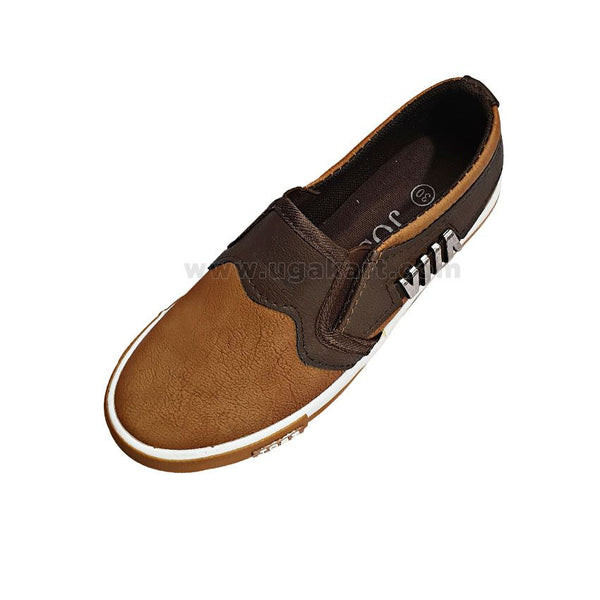 Brown Kids Easy Fleets Shoes