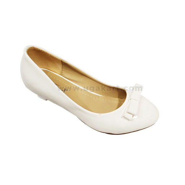 White Short Heel Party Kids Shoes