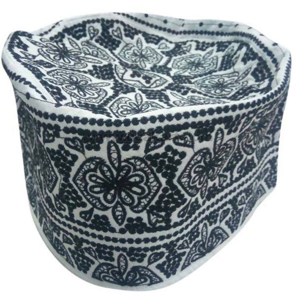 Kifia Turban Cap_Black and White
