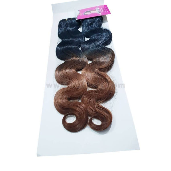 Human Hair-Black & Brown -18 Inch