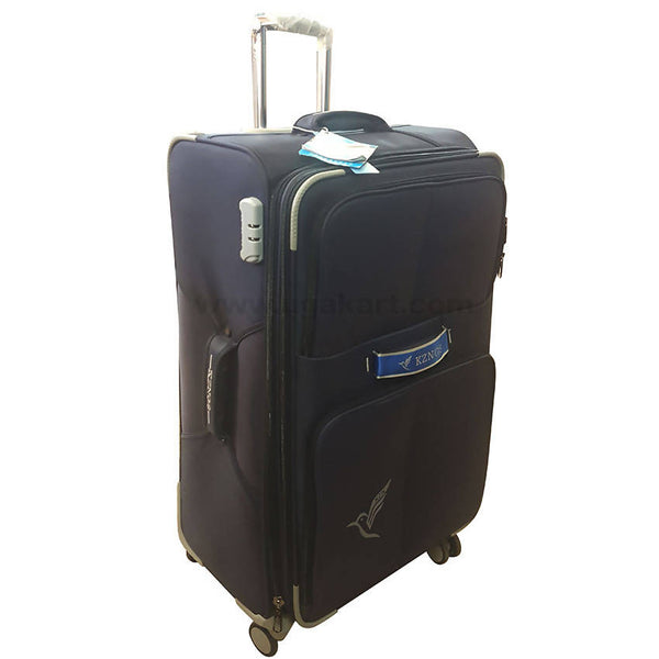 KZNGS Blue Strip Travel Spinner Suitcase (Medium Size)