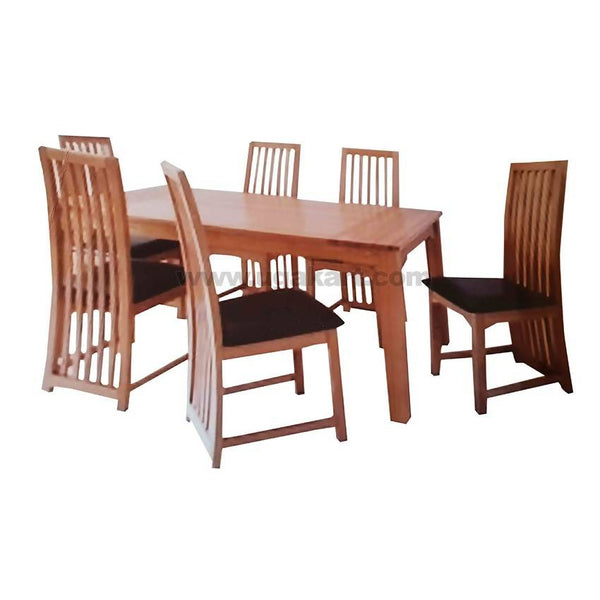6 Seaters Dining Table And Chairs With Cushion