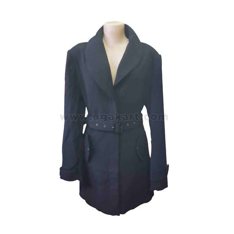 Black Ladies Trench Coat