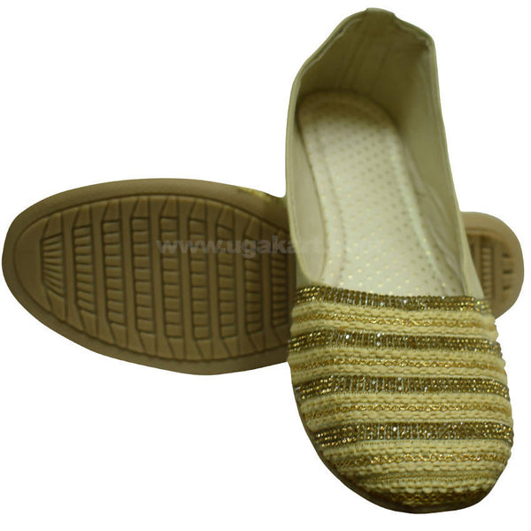 Ballet Flat Shoe With Semi Cotton