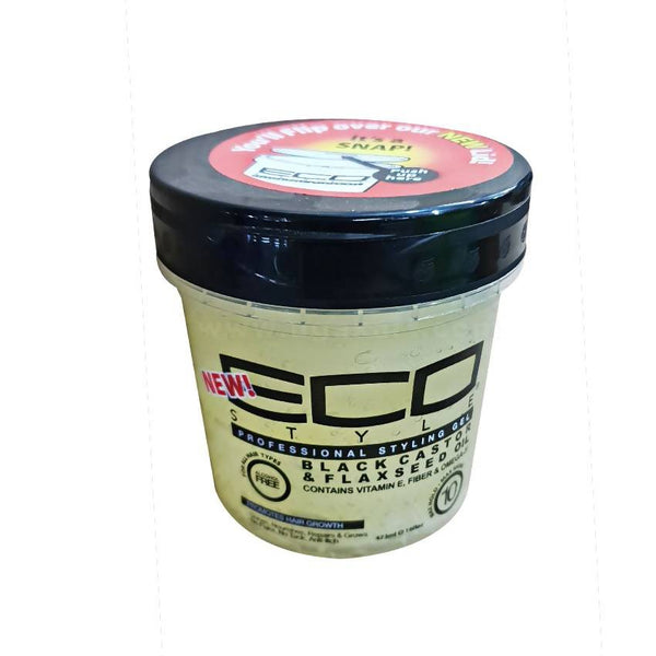 New ECO Styling Gel- Black Castor & Flax Seed Oil - 473ml