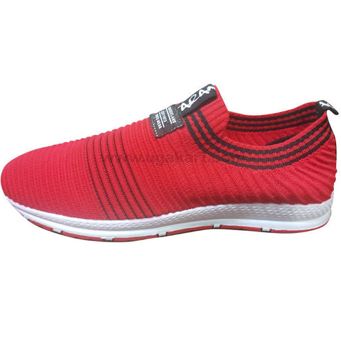 Men's Red & White Cloudfoam Breathable Sneaker