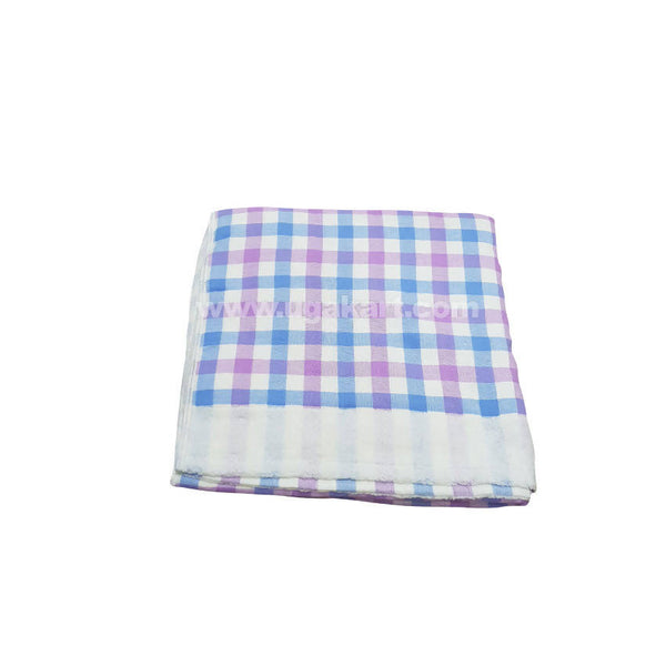 White With Blue Strips Towel For Kids