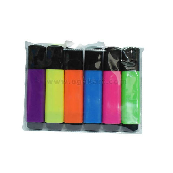 Fluorescent Highlighter With 6 Colours