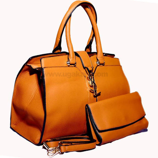2PCS YSL Brown Hand Bag