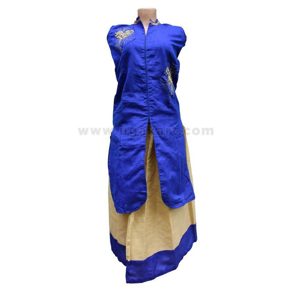 Kids Indowestern Skirt And Top - (7-8 Years)