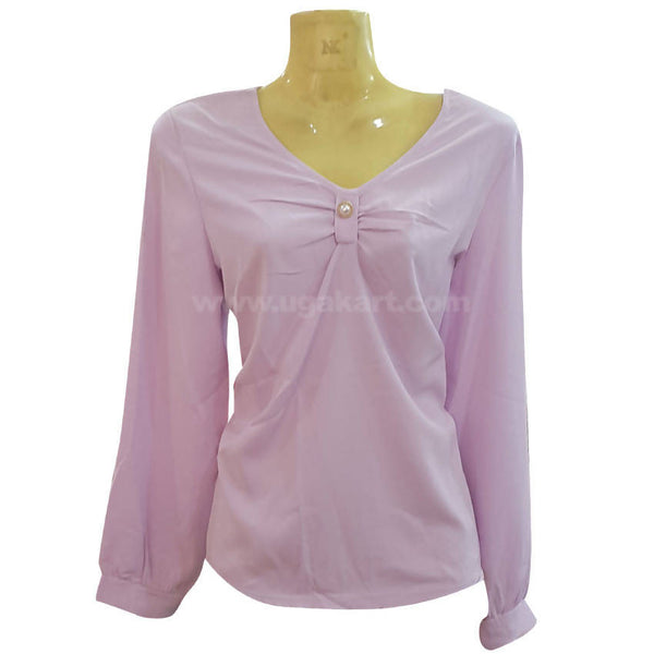 Women's Light Purple Long Sleeve Top