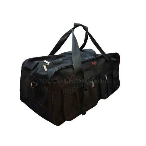 Black Travel Bag With Fiber Handle