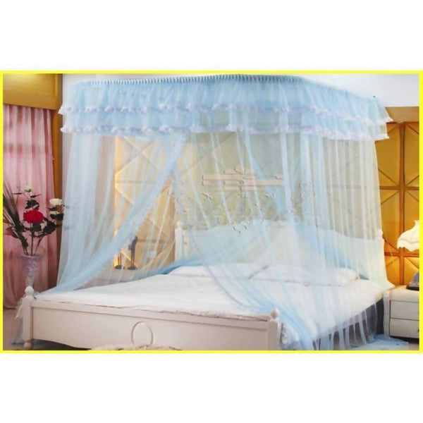 Luxury Ceiling Mosquito Net - Light Blue