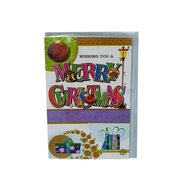 Merry Christmas Bells Greeting Card-Small